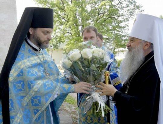 Митрополит Варсонофий совершил Божественную Литургию в Тихвинском Богородичном успенском мужском монастыре